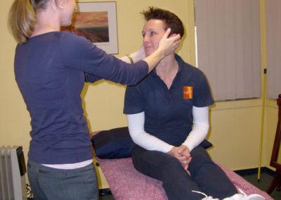 Treating neck pain at Somerville Physiotherapy